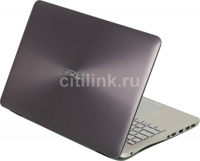 "Ноутбук ASUS N551JM-CN123H, 15.6"", Intel Core i7 4710HQ, 2.5ГГц, 12Гб, 1000Гб, nVidia GeForce GTX 860M - 2048 Мб, DVD-RW, Windows 8.1, серый 2"