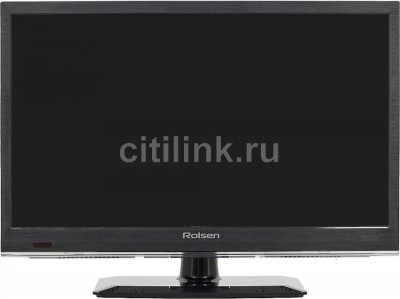"Телевизор LED ROLSEN RL-19E1308T2C ""R"", 19"", HD READY (720p), черный 1 1"